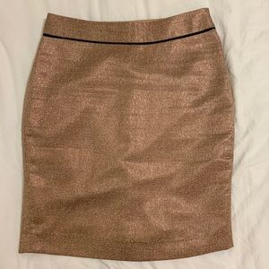 THE LIMITED Gold Skirt